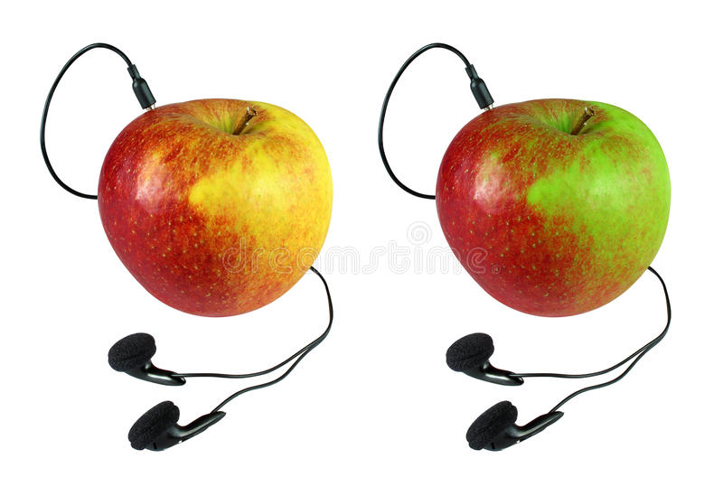 Connected Apple Royalty Free Stock Images