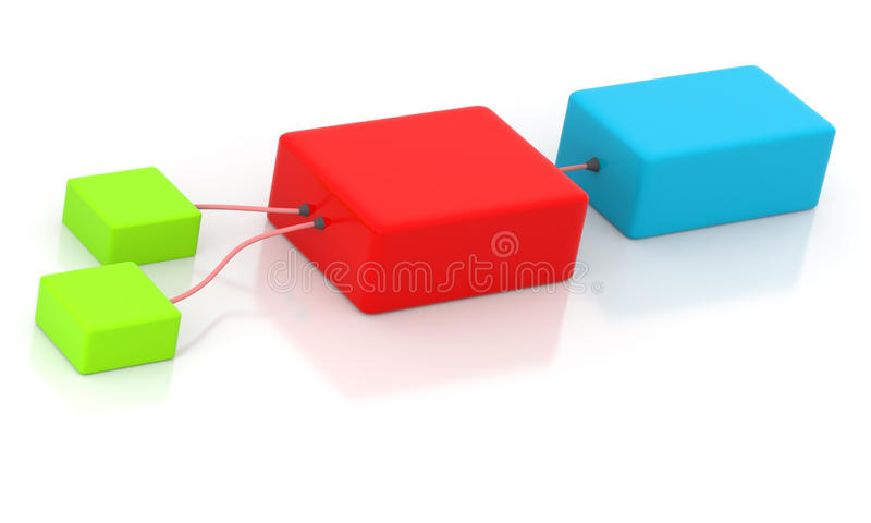 Download Connected boxes stock illustration. Image of decisions - 12103412