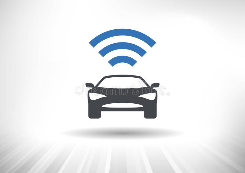 The Connected Car vector illustration