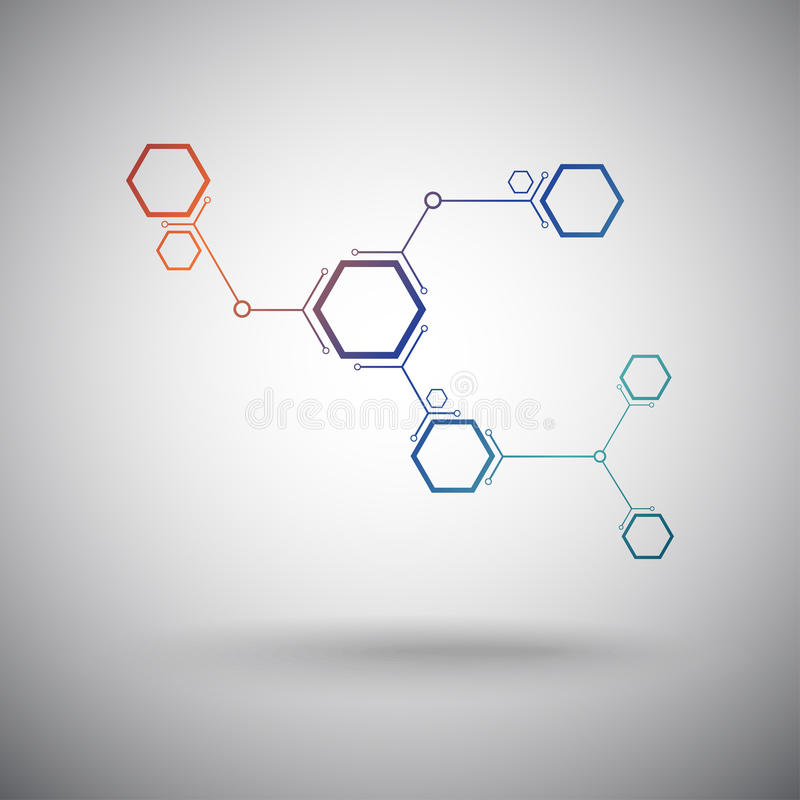 Download Connected cell.Gradient stock vector. Image of molecule - 30341878