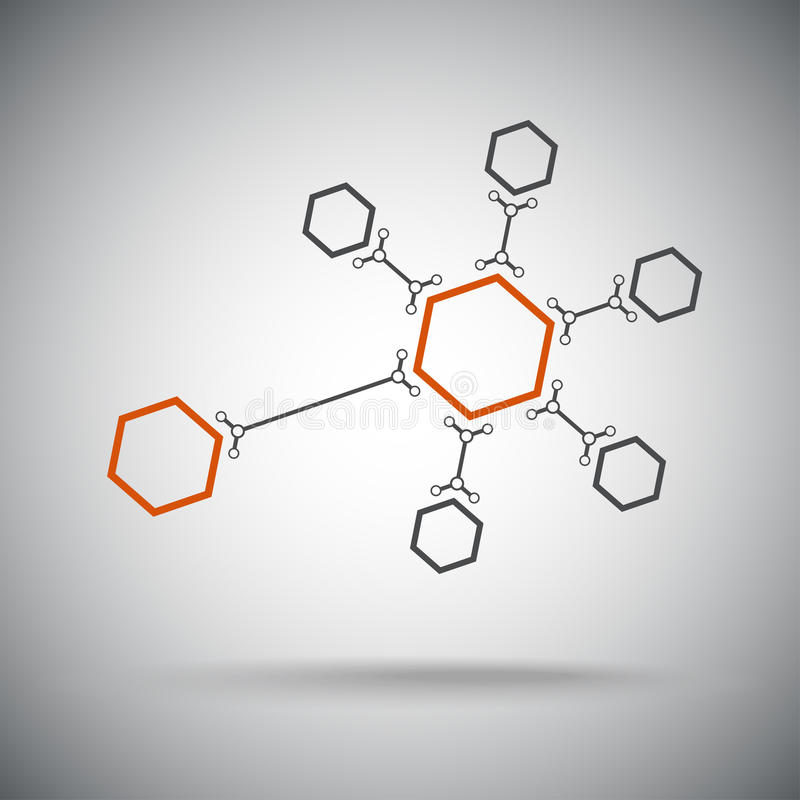 Download Hexagonal Connection. Orange Stock Vector - Illustration of microbiology, company: 30106388