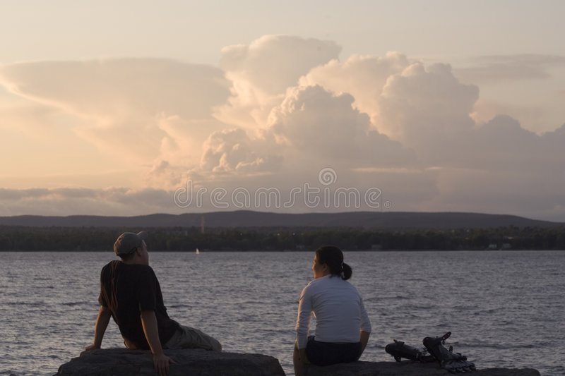 Download Connected Couple stock image. Image of background, water - 468909
