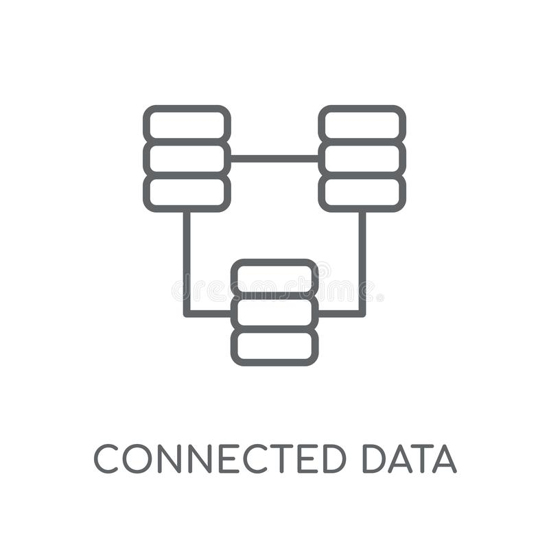 Connected data linear icon. Modern outline Connected data logo c vector illustration