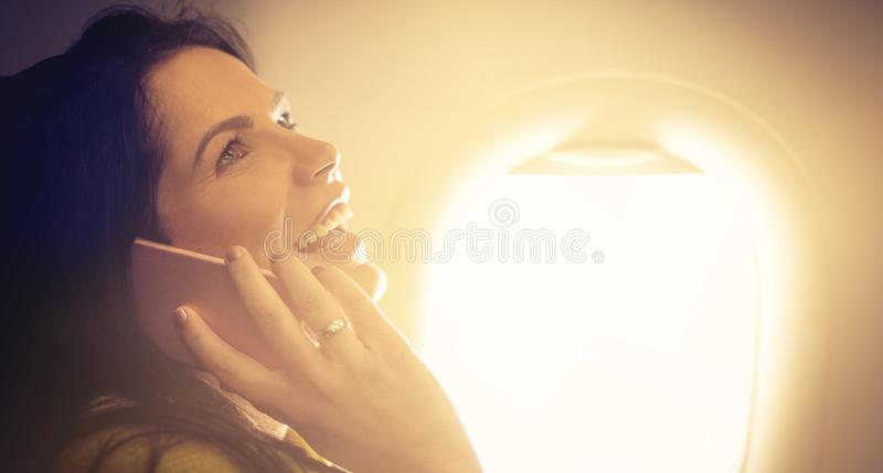Connected even in the air. royalty free stock images