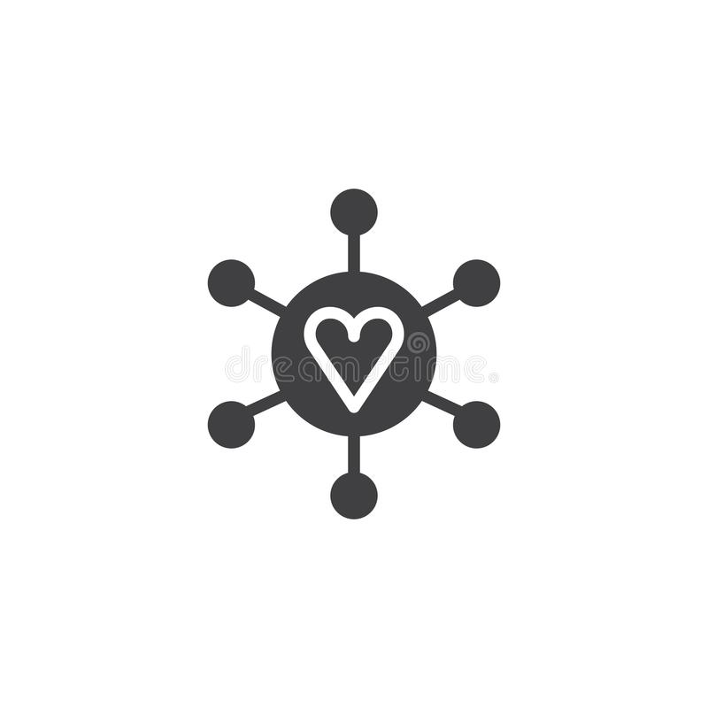 Free Connected Loving Heart Icon Vector Stock Photography - 107599662