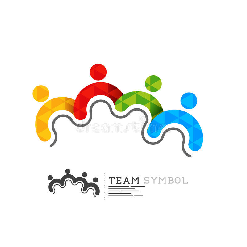 Connected team leadership symbol royalty free illustration