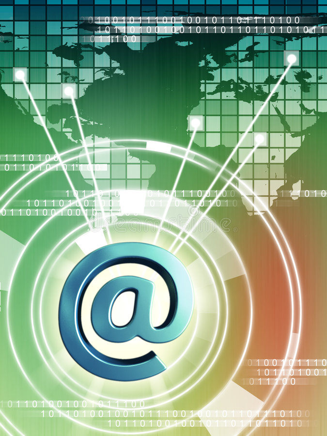 Download Connected world stock illustration. Image of mail, global - 6804366