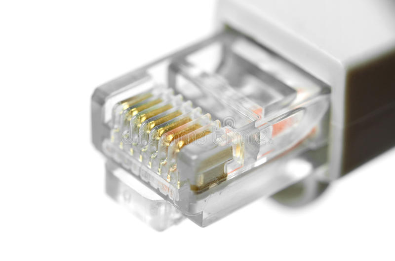 Connecteur de réseau local image stock