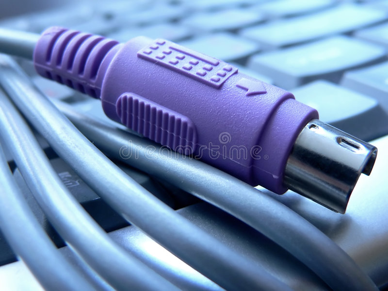 Connecteur du clavier Ps/2 photographie stock libre de droits