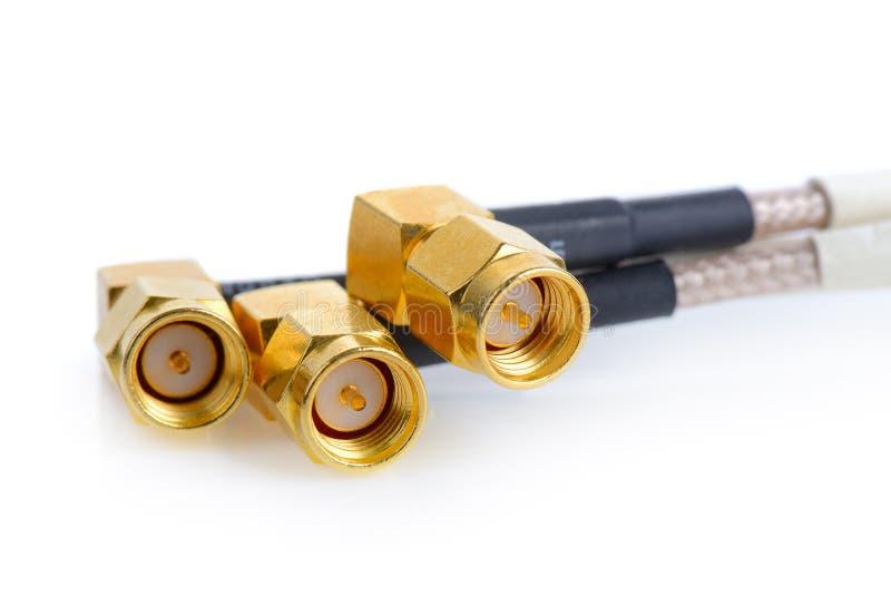 Connecteurs à haute fréquence de SMA image stock