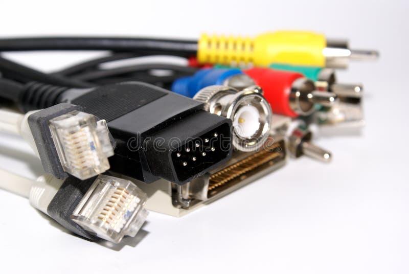 connecteurs d'ordinateur photo libre de droits