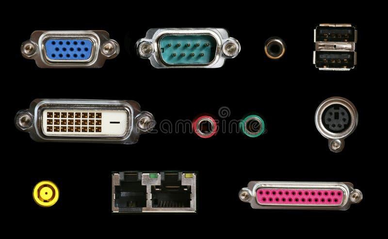 Connecteurs d'ordinateur image stock
