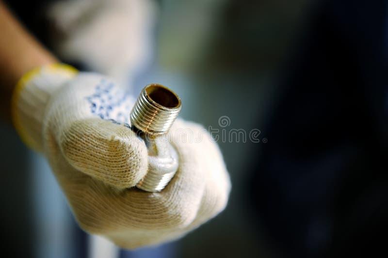 Connecteurs des tuyaux de tuyauterie photographie stock libre de droits