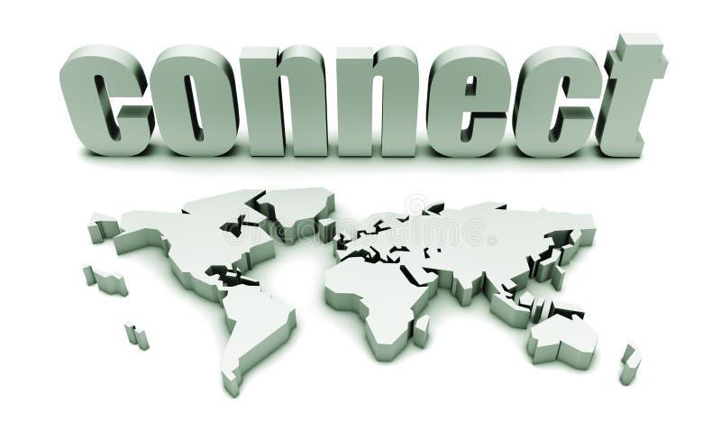 Connectez globalement illustration de vecteur