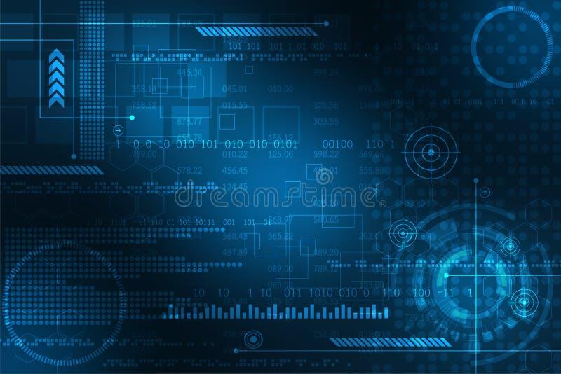 Connectez qui représente la base de données principale dans numérique illustration de vecteur