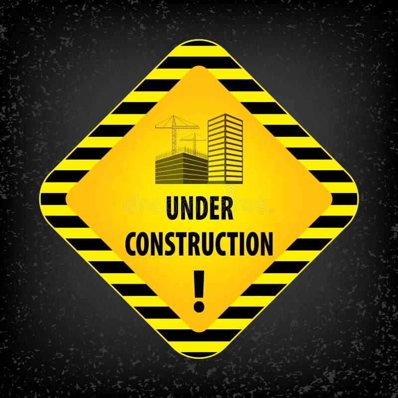 Connectez-vous en construction le fond au sol noir Illustration de vecteur pour le site Web Losange en construction avec le noir  illustration stock