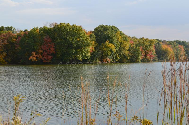 Connecticut湖 库存照片