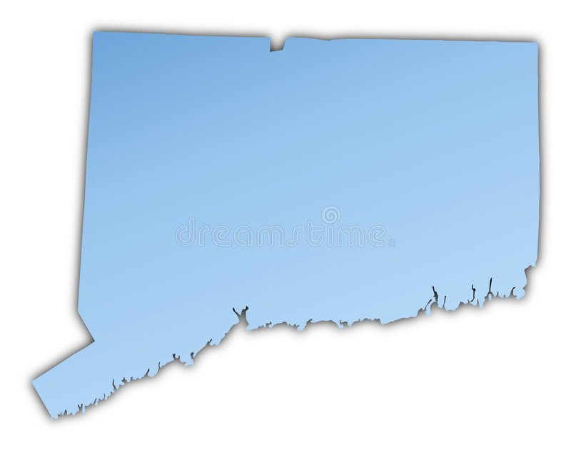 connecticut översikt USA royaltyfri illustrationer