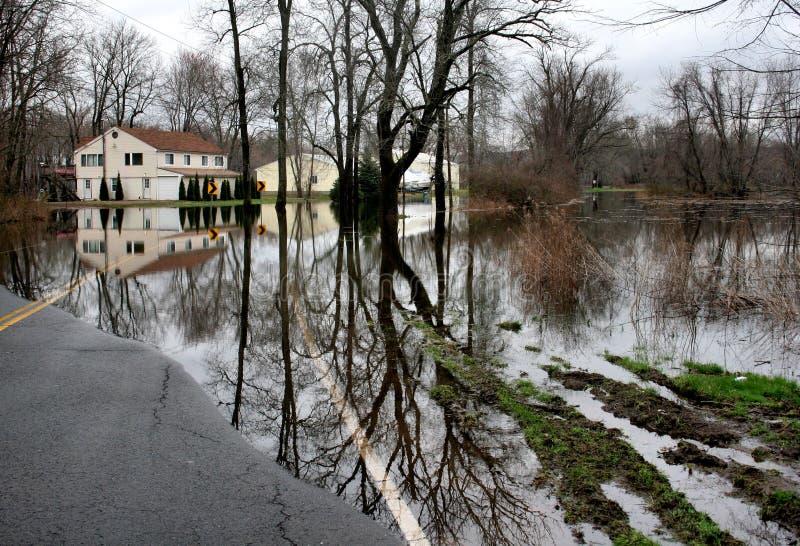 Connecticut-Überschwemmung lizenzfreie stockfotografie