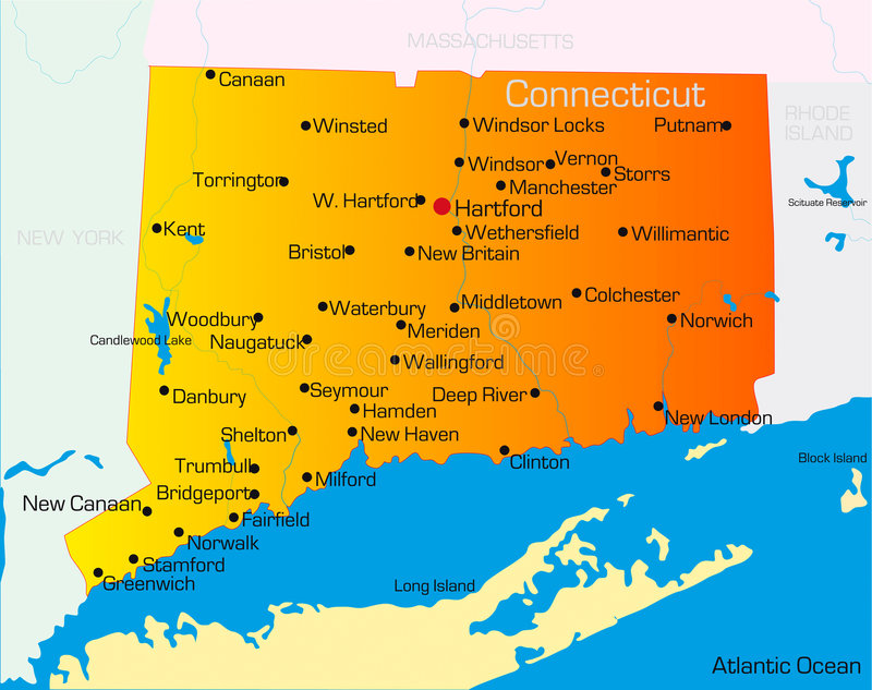 Connecticut vektor abbildung