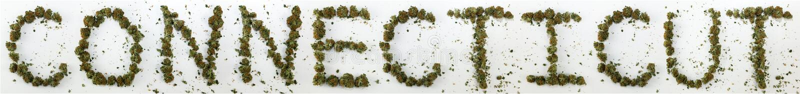 Connecticut buchstabierte mit Marihuana lizenzfreies stockbild