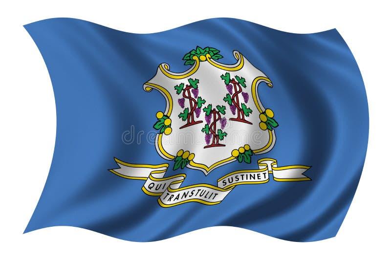 connecticut flagę ilustracji