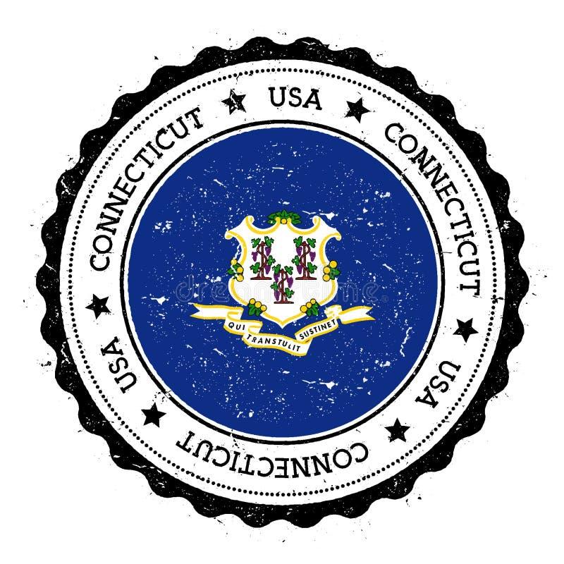 Connecticut flaga odznaka ilustracji