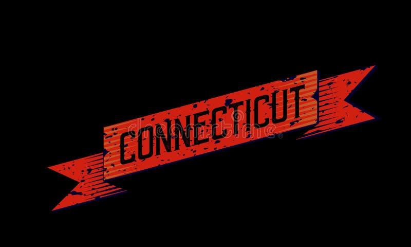 Connecticut - Illustrations-Konzept in der Weinlese-Grafik-Art lizenzfreie abbildung