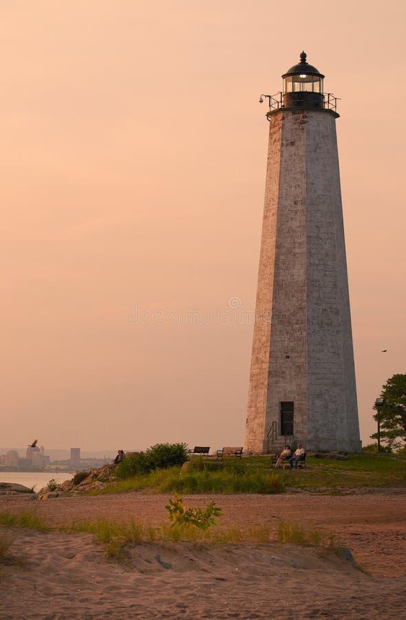 Connecticut kartoteki punktu Milowa latarnia morska obrazy royalty free