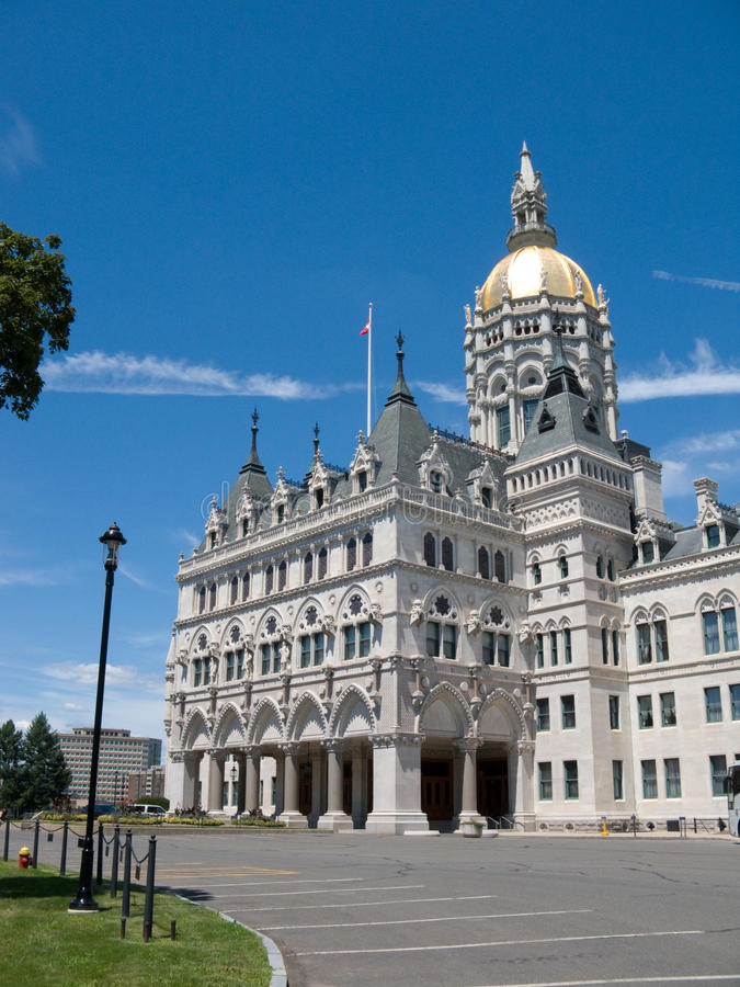 Connecticut state capitol building. Capitol building in Hartford, Connecticut royalty free stock photos