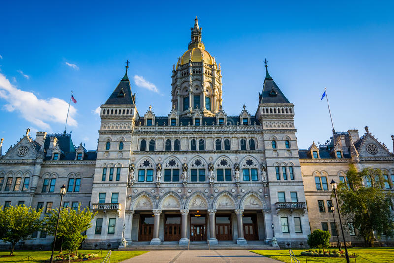 The Connecticut State Capitol Building in Hartford, Connecticut. royalty free stock photography