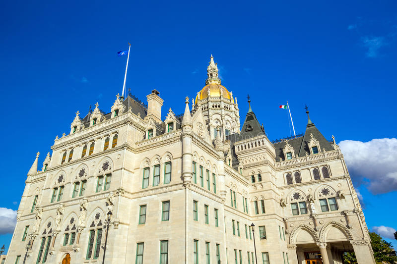 Connecticut State Capitol in Hartford, Connecticut. In USA royalty free stock photo