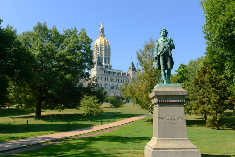 Connecticut State Capitol, Hartford, CT, USA. Connecticut State Capitol, Hartford, Connecticut, USA. This building was designed by Richard Upjohn with Victorian stock image