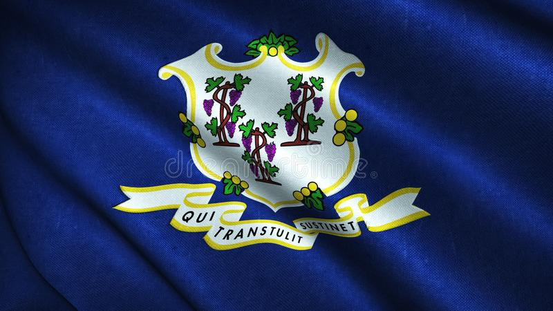 Connecticut State Flag stock illustration