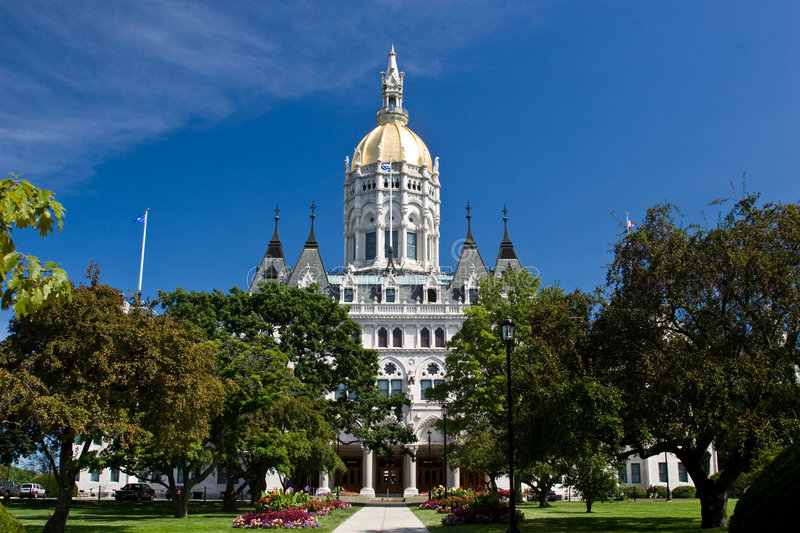Connecticut State House stock image