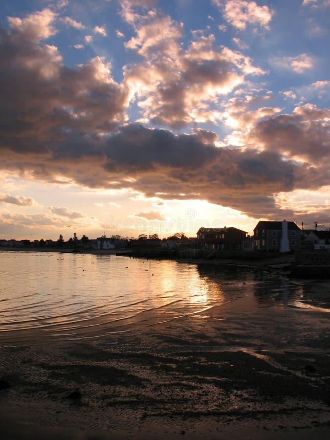 Connecticut-Strand-Sonnenuntergang stockfotografie