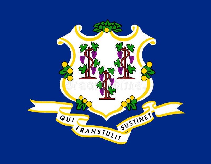 Connecticut wektoru flaga również zwrócić corel ilustracji wektora Stany Zjednoczone A royalty ilustracja
