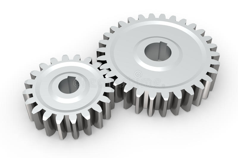 Download Connecting gears stock illustration. Illustration of mechanic - 16734447