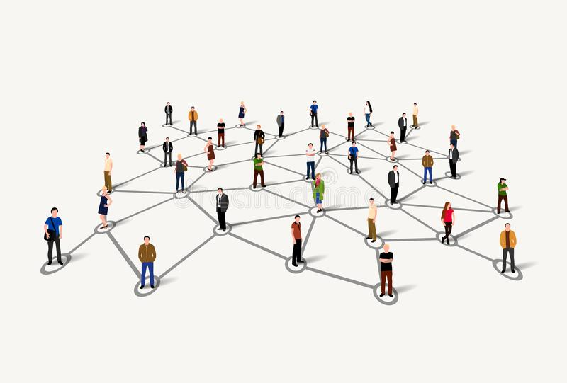 Connecting people. Social network concept. Vector illustration stock illustration