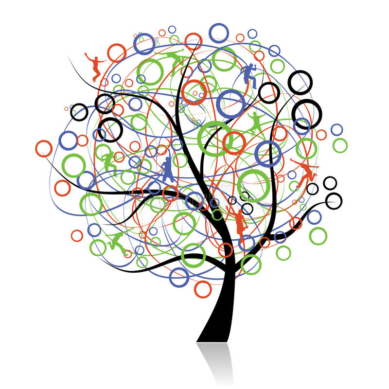 Free Connecting Peoples, Web Tree Royalty Free Stock Photo - 12907155