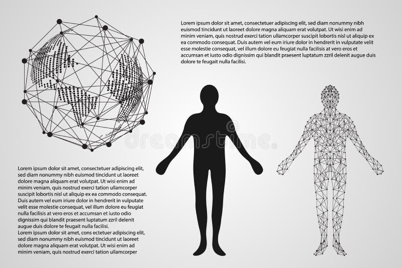 Connectio digital de la red del vínculo de la tecnología del mundo abstracto del concepto imagen de archivo libre de regalías