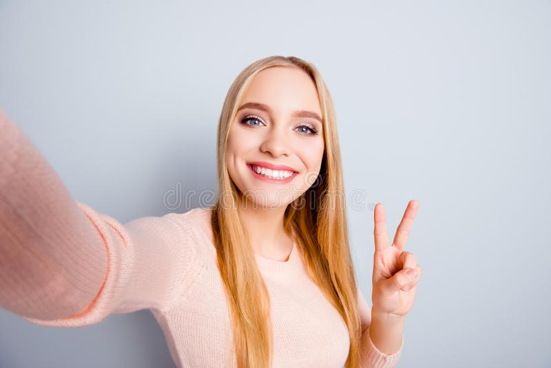 Connection casual roaming glamour style toothy people funtime pe stock photos