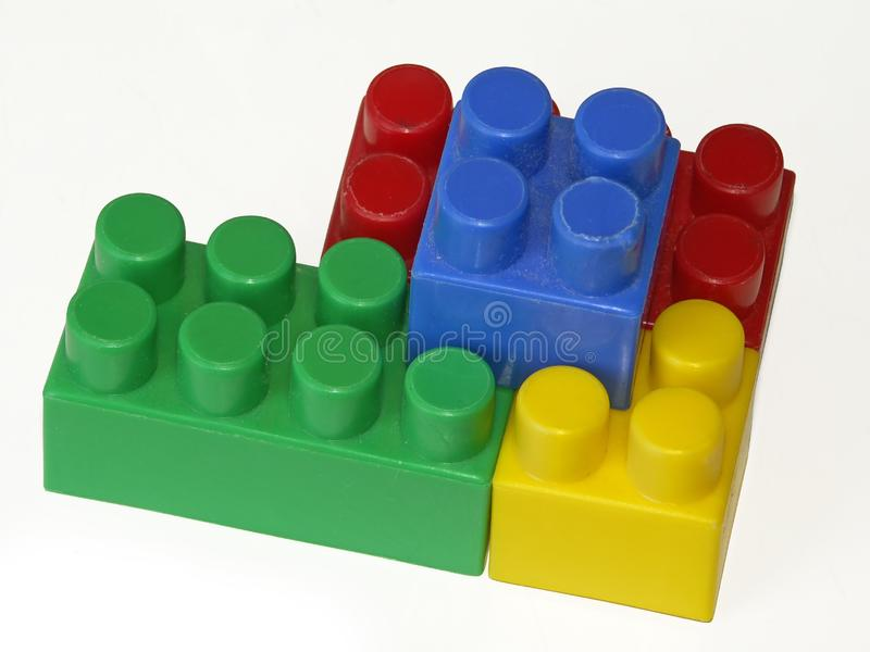 Connection of children's cubes royalty free stock photo