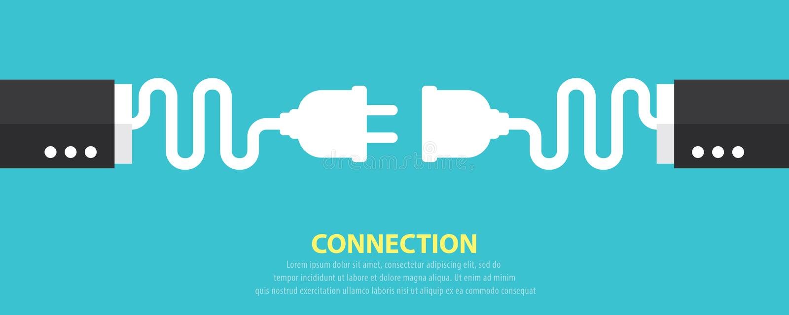 Connection concept stock illustration