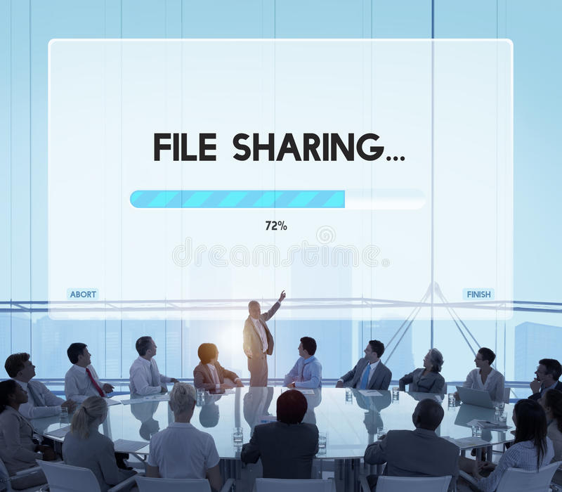 Connection Data Streaming Download Archiving Concept royalty free stock photography