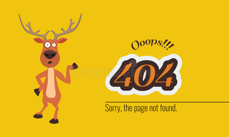 404 connection error with Christmass concept. Vector royalty free illustration