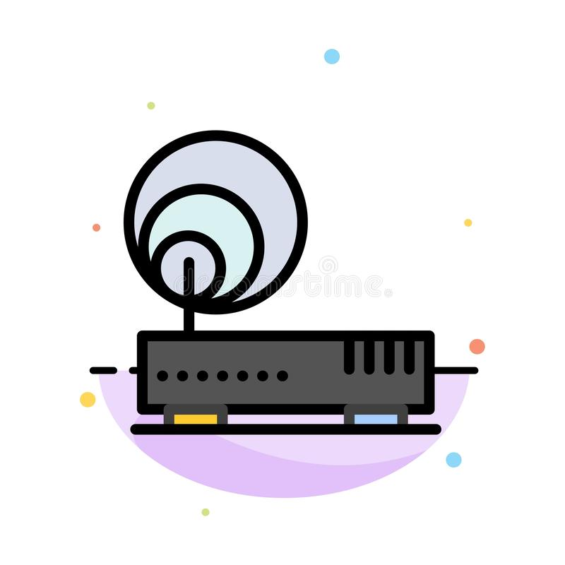 Connection, Hardware, Internet, Network Abstract Flat Color Icon Template royalty free illustration