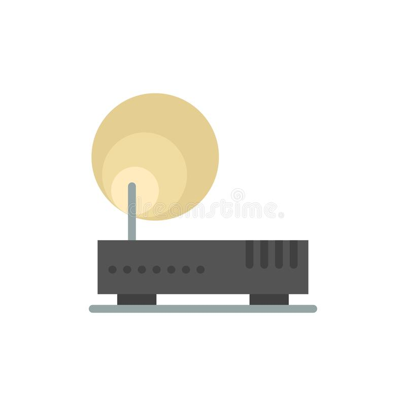 Connection, Hardware, Internet, Network  Flat Color Icon. Vector icon banner Template stock illustration
