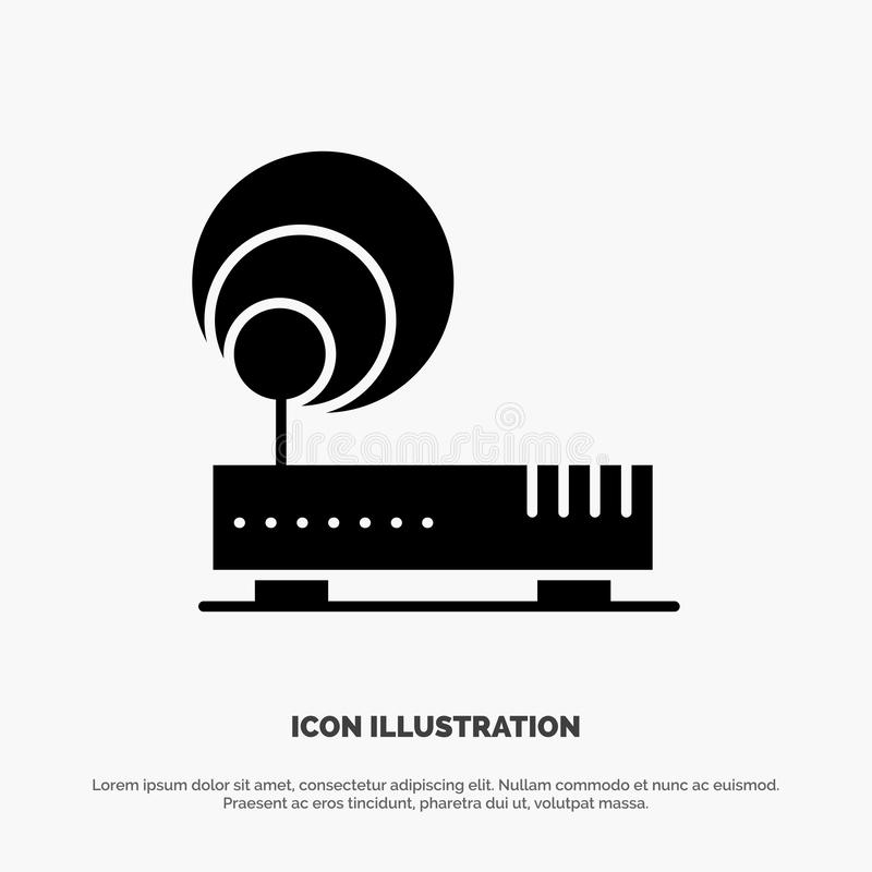 Connection, Hardware, Internet, Network solid Glyph Icon vector vector illustration