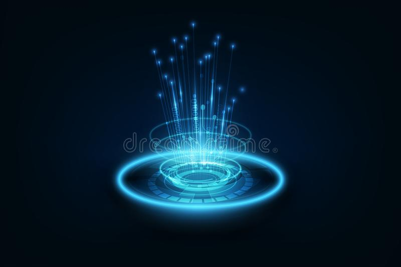 Connection line on networking telecommunication concept background. Connection line on networking telecommunication tachnology concept background vector stock illustration